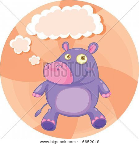 illustration of a pig on a white background