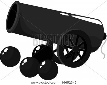 illustration of cannon on a white background