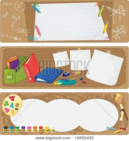 illustration of a various objects on a white background
