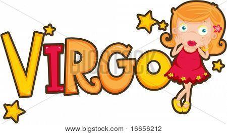 illustration of Zodiac sign Virgo on a white background