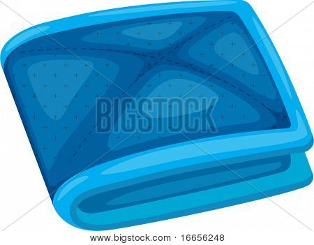 illustration of wallet on a white background
