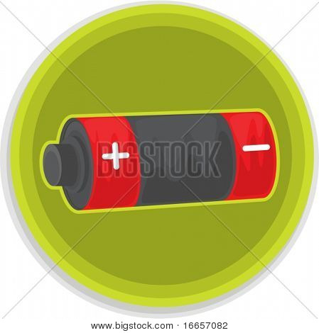 Illustration of battery on a white background