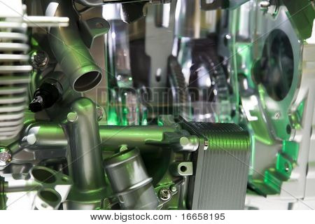 Complex Engine Of Modern Car