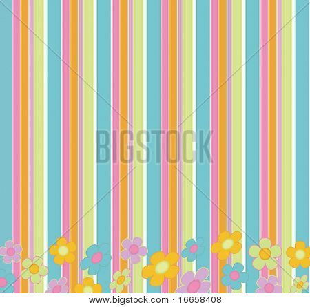 Abstract Colorful Retro Vector Background