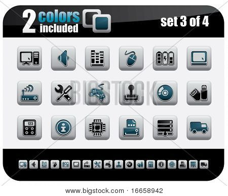 Web Icons Set. Steelo Series. Set 3 of 4.