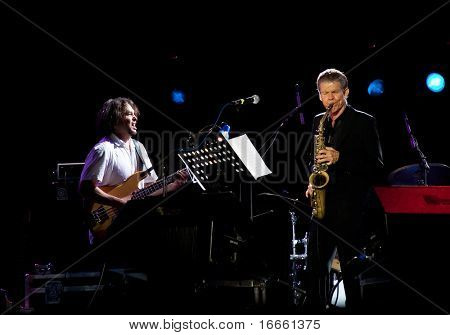 MOSCOW - MAY 13: Saxophonist David Sanborn and
