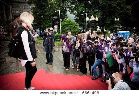MOSCOW - JUNE 1:  Lera Kudryavceva. Premiere of