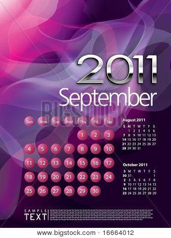 2011 Calendar September