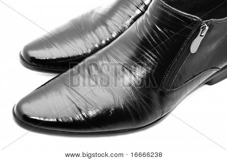 Black shiny man's shoes