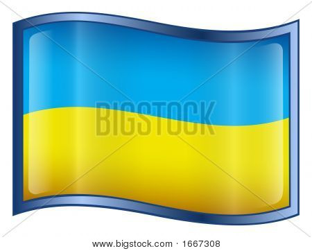 Ukraine Flag Icon. ( With Clipping Path )