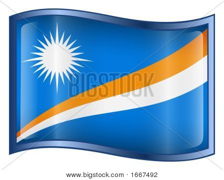 Marshall Islands Flag Icon. (With Clipping Path)