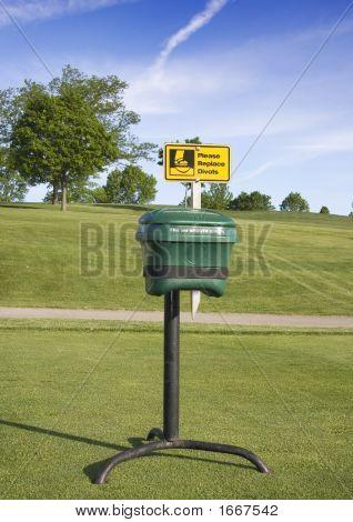 Divot Sand Box On Golf Course Tee