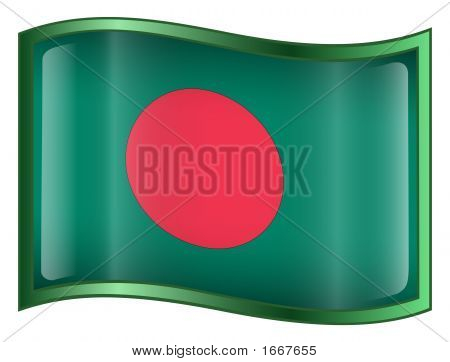 Bangladesh Flag Icon. ( With Clipping Path )
