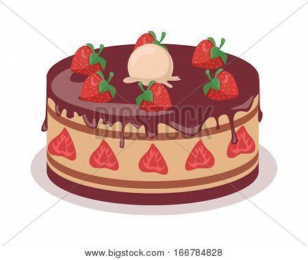 Delicious Cake Festive Cake Web Vector Photo Bigstock