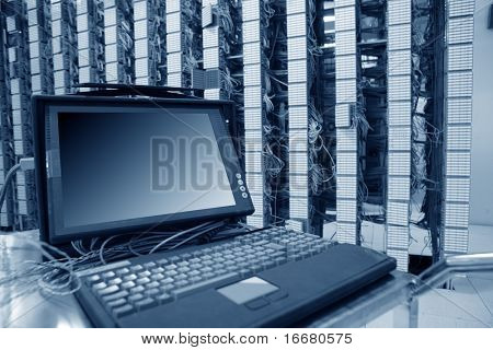 computer in communication servers center