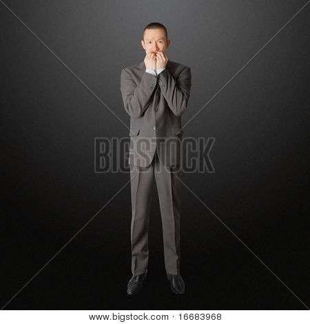 Scared Businessman