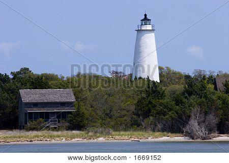 Ocracoke Lighthouse Shoreline