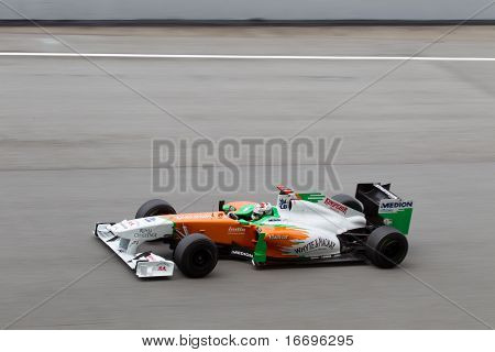 Adrian Sutil on a high speed straight