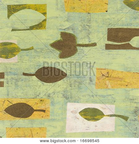 florish colored paper background