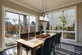 Sun Filled Dining Room In New Luxury Home poster