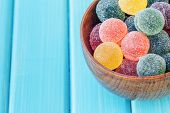 Постер, плакат: Sugar Coated Fruit Jelly In A Bowl