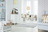 Functional Apartment In White poster