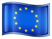 Europe Flag Icon. (With Clipping Path)
