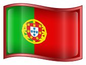 Portugal Flag Icon. ( With Clipping Path )
