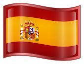Spain Flag Icon. ( With Clipping Path )