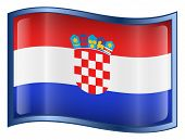 Croatia Flag Icon. ( With Clipping Path )