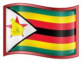 Zimbabwe Flag Icon. (With Clipping Path)