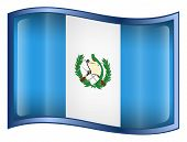 Guatemala Flag Icon. (With Clipping Path)