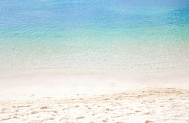 picture of summer beach  - Summer beach background with clean sand and blue sky - JPG