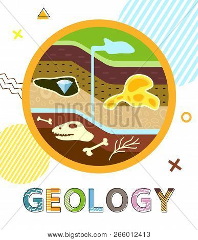 Geology Poster With Soil Layers