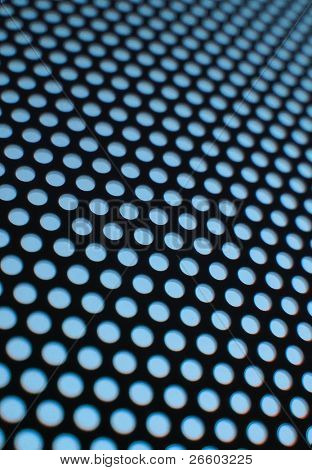 Blue meshy texture (shallow DOF)