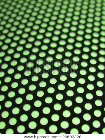 Green meshy texture (shallow DOF)
