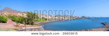 Panoramic view of Costa Adeje bay of Tenerife island (Canaries)