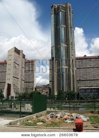 High-rise building in the downtown of Caracas