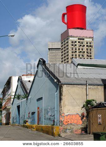 Backyards of Caracas downtown