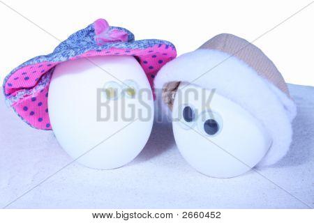 Zwei Ei-Personen