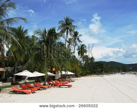 Tropical beach of Langkawi island, Malaysia