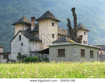 Old Trattoria in Verzasca valley, Southern Switzerland