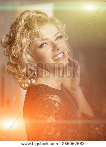 Beauty young model woman in