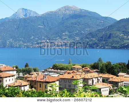 Menaggio town at famous Italian lake Como  outdoor