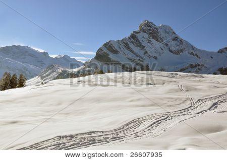 Ortstock mount 2717m. Braunwald, Switzerland