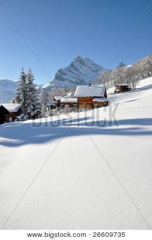 Bergkulissen, Braunwald, Schweiz