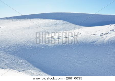 Snowdrifts in Swiss Alps