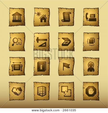 Papyrus Building Icons