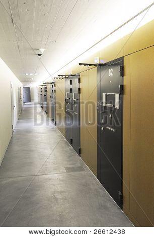 Corridor of a modern prison