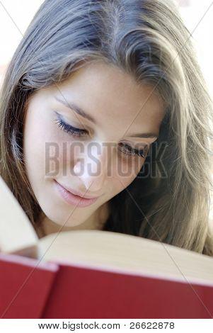 Girl read a book